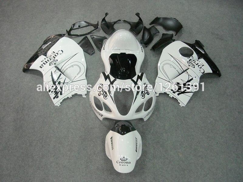 Инъекции для SUZUKI hayabsa GSXR1300 GSX-R1300 белый G46435 GSXR 1300 96 97 98 99 00 01 02 03 04 05 06 07 обтекатель