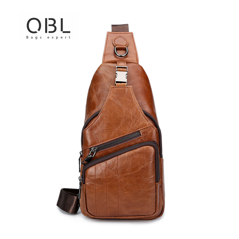 QiBoLu 2018 Business Leather Sling Bags Men Fashion Chest Crossbody Single Shoulder Bag for Man Sacoche Homme Bolsa Masculina qibolu handbag men bag briefcase business travel laptop messenger crossbody shoulder bag sacoche homme bolsa masculina mba17