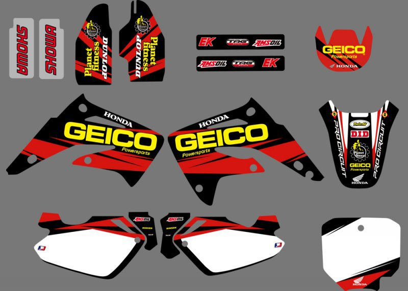 GRAPHICS BACKGROUND DECAL STICKER Kit for Honda CR85R CR85 LIQUID COOLED 2 STROKES 2003 04 05