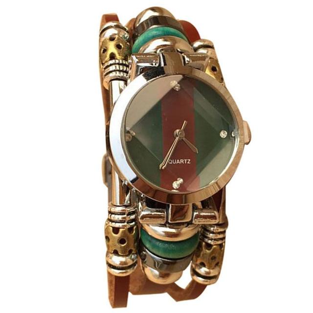 Tassel Oval Women Watch Rhinestone Leather Bracelet Watches Lady Clock Female Wo