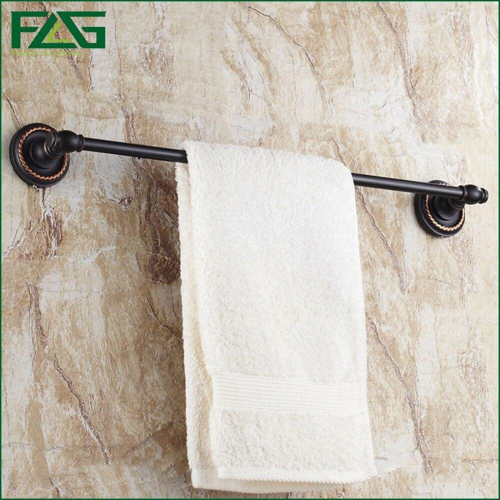 ФОТО FLG Free Shipping Single Towel Bar Towel Holder Towel Rack Brown Pattern Oil Rubbed Bronze Brass Bathroom Accessories G163
