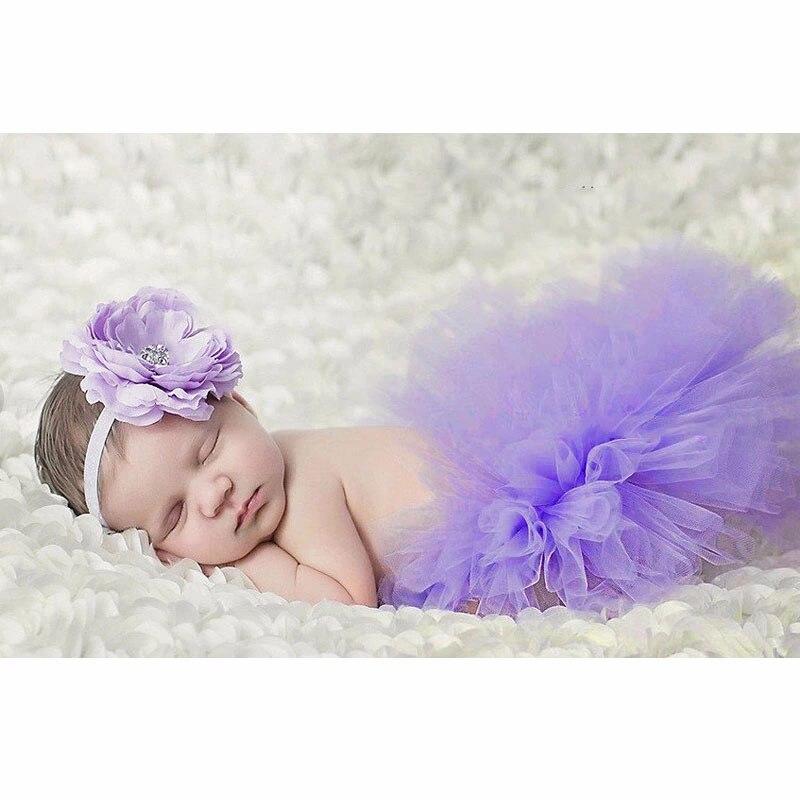 Реквизит для фотосессии новорожденных; юбка для девочек; юбка-пачка принцессы с бантом; фатиновая повязка на голову с цветочным рисунком; вязаная шапка для фотосессии - Цвет: 1