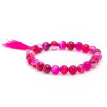 2017 Vintage Red Natural Stone Bead Bracelet For Women Girls Tassel Charm & Bangle Boho Love Jewelry