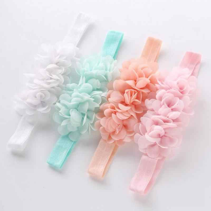 1Pcs Chiffon Flower Hairband For Girls Newborn Photography Headwears Headbands For Hair Baby Hair Accessories