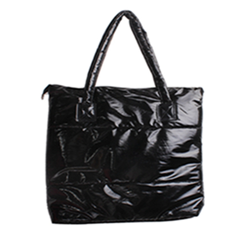 2018 Simple Women Bag Winter Fashion Women's Handbag Space Pad Cotton Feather Bucket Bag Female Large Tote Bag hot sale women fashion colorful light feather handbag high quality shoulder bag space down cotton padded tote bs162