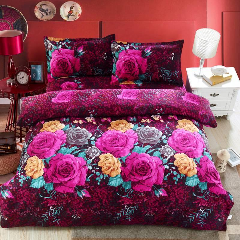 Textiles para el hogar, Impresión Reactiva camas 3D establece lujo Full/Queen/Ki