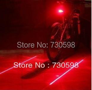 Велосипед лазерный задний фонарь ( 5LED + 2 лазер ) велоспорт велосипедов безопасности алам задние лампы 7 режимы горный велосипед свет