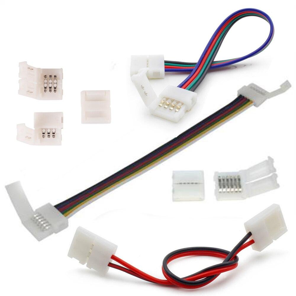 RGB CCT RGBW 2pin 4pin 5pin taśmy LED złącze PCB klip Solderless Adapter do 3528 5050 taśmy LED do taśmy połączenia 5 sztuk/partia