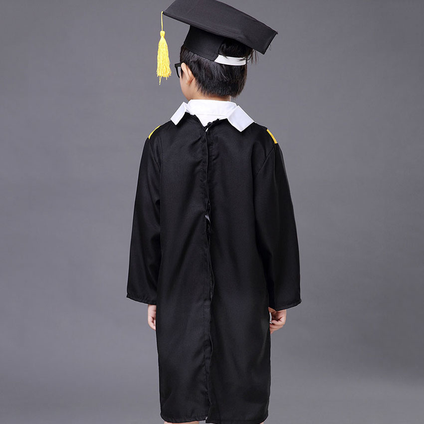 Halloween Graduation Jacket Stage Costume Kids Bachelor Gown Hat ...