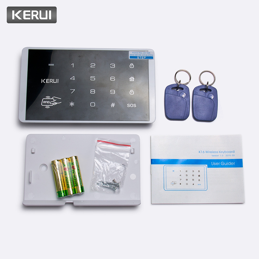 Alarm Keyboard Expressive Kerui K16 Rfid Touch Wireless Password Burglar Access Control System Arm/disarm Keypad For Kerui Pstn Gsm Wifi Alarm Systems Security Alarm