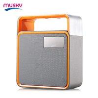 Originele MUSKY DY31 Bluetooth HiFi Draagbare Speaker Draadloze Luidspreker LED Licht FM Radio Ondersteuning Sd-kaart AUX handsfree Call