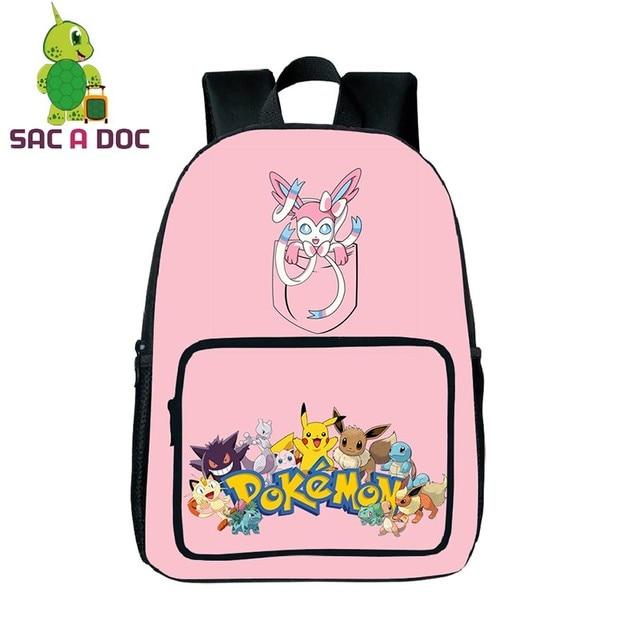 Pokemon Pocket Sylveon Printing Backpack Children School Bags