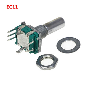 Smart Electronics 5pcs/lot Rotary Encoder Code Switch/EC11/Audio Digital Potentiometer with Switch 5Pin Handle Length 20mm
