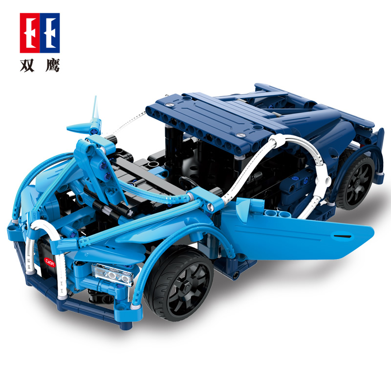 CaDA Fashion Toy Car Buliding Block Car and Bugatti Dragon Super Racing Car Electric Power Function