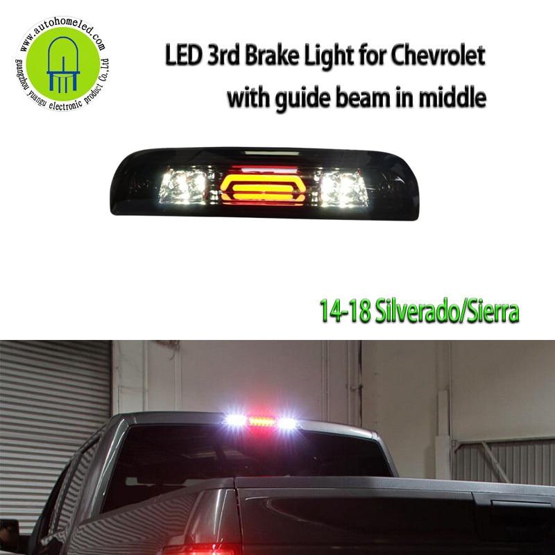 For 15-18 GMC Sierra 2500HD 3500HD BLK//Smoke LED Third Brake Light W//Cargo Lamp