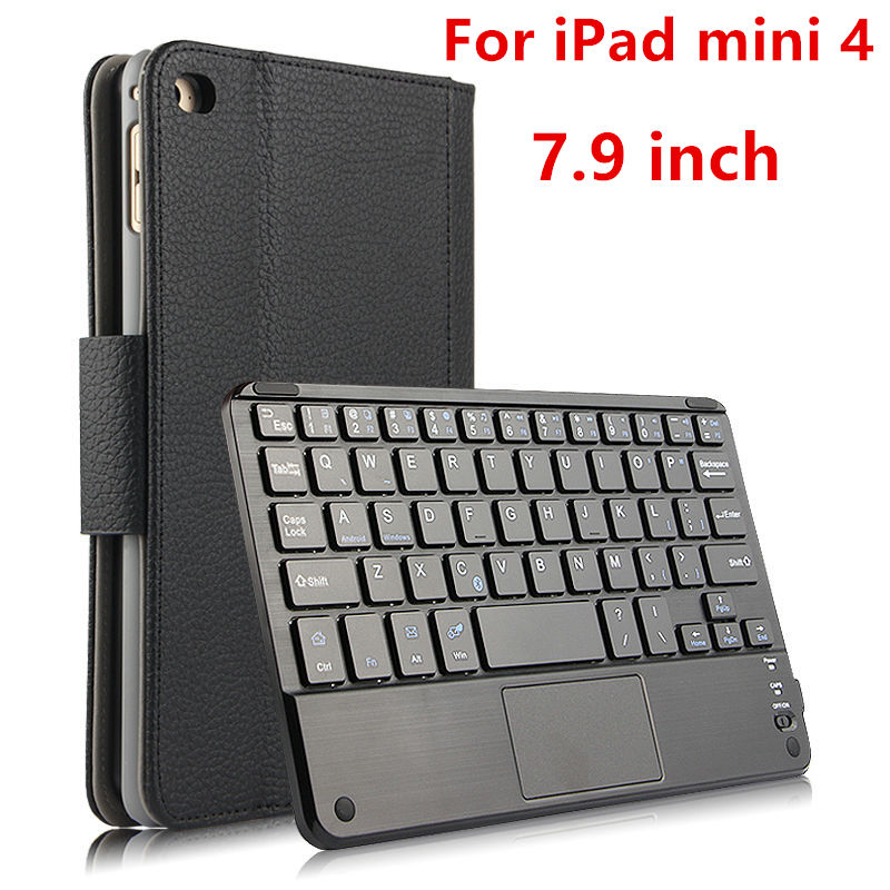 Case For iPad mini 4 Protective Wireless Bluetooth keyboard Smart cover Leather Tablet PC For iPad mini4 Protector 7.9 inch PU
