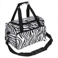 Portable Pro Salon Hair Tools Canvas Handbag Zebra Hairdressing Barber Scissors Clips Hair Styling Storage Tool G0306