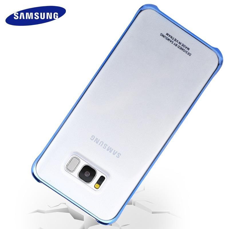 Samsung Galaxy S8 S8 плюс Чехол Прозрачная Жесткая задняя панель из поликарбоната полный защитный S 8 G9550 G9500, оригинал, люкс класс, с защитой от ударов