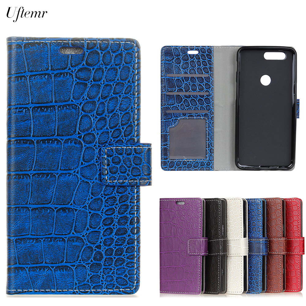 Uftemr Vintage Crocodile PU Leather Cover For Oneplus 5T Protective Silicone Case For One plus 5 T Wallet Card Slot Acessories