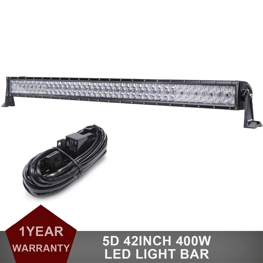 42 5D 400W Offroad LED Light Bar 12v 24v Combo Car Truck Auto ATV Pickup 4WD 4X4 SUV Camping Wagon Trailer Driving Headlight