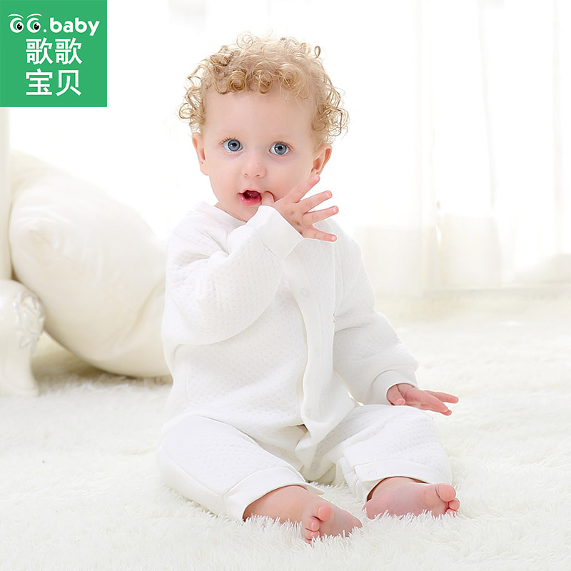 Baby Boy Romper Jumpsuit Winter Rompers Long Sleeve Cotton Clothing Toddler Baby Clothes Jumpsuits Warm Baby Boys Snow Pajamas 100%cotton 3pcs lot baby rompers winter long sleeve baby boys clothing solid color o neck jumpsuit baby girls pajamas clothes