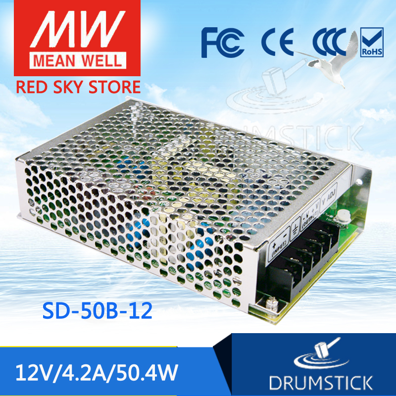 цена на Selling Hot MEAN WELL original SD-50B-12 12V 4.2A meanwell SD-50 12V 50.4W Single Output DC-DC Converter