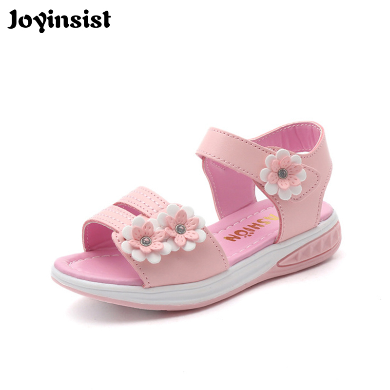 2019 summer new girls sandals childrens princess shoes Korean version of the new flower childrens shoes2019 summer new girls sandals childrens princess shoes Korean version of the new flower childrens shoes