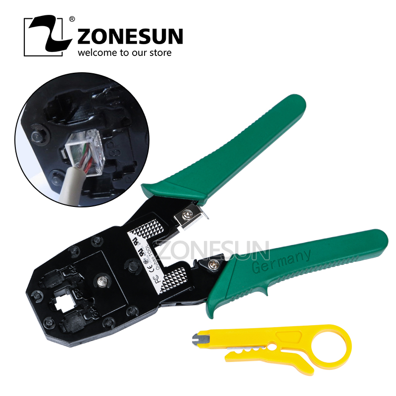 ZONESUN Hand Tools Crimper Crimping Cable Stripper Pressing Line Clamp Pliers Tongs For Network EZ RJ45 RJ11 Connectors tools rj11 ez rj45 pliers crimper crimping cable stripper pressing line clamp pliers tongs for network ezrj45 connectors