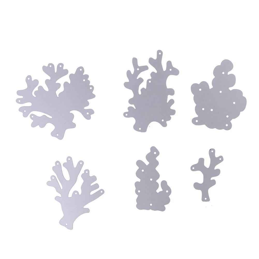 Scrapbook paper aliexpress - 6pcs Set Metal Water Plants Stencil Cutting Dies For Diy Photo Album Embossing Scrapbook Paper