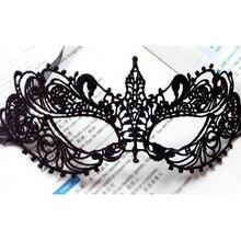 Masque Halloween Mask Sexy Lady Black Lace Mask For Masquerade Party Anonymous Venetian Carnival Mask Cutout Cosplay Eye Mask 1pcs black women sexy lace eye mask party masks for masquerade halloween venetian costumes carnival mask for anonymous mardi