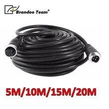 5 м/10 м/15 м/20 м 4 pin авиационная Камера видеонаблюдения для автомобиля водонепроницаемый удлинитель 4-контактный авиационный видео кабель