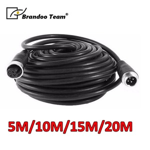 5M/10M/15M/20M 4 pin aviation vehicle cctv camera waterproof extension cable 4-Pin Aviation Video Cable(China)