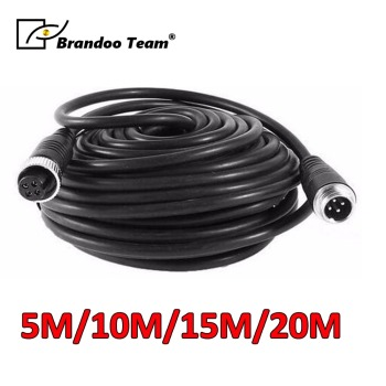 5M/10M/15M/20M 4 Pin Aviation Vehicle Cctv Camera Waterproof Extension Cable 4-Pin Aviation Video Cable