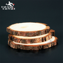 Фотография 1piece Diameter(15-17cm)  Height(2cm) Coasters Wood Slices Bar Mats Wood Coasters Reclaimed Willow Wood Coasters Free Shipping