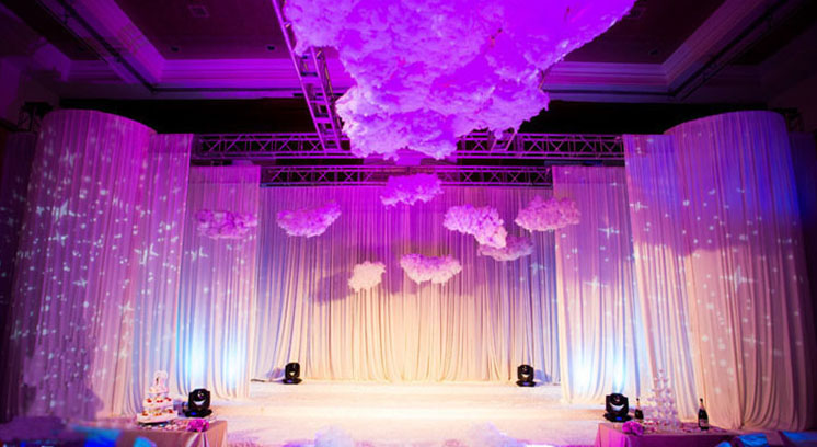 Romantic wedding party backdrops stage decoration diy decorative romantic wedding party backdrops stage decoration diy decorative simulation white clouds junglespirit Images