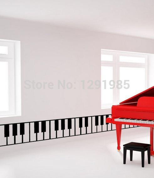 Wall Decal Sticker Removable Piano Keys Home Decor Decal Stickers Quotes  Fashion Design Custom Removable Waterproof In Wall Stickers From Home U0026  Garden On ...