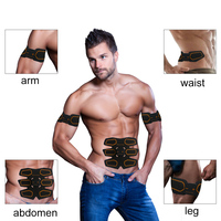 Muscle Toner Abs Simulator Abdominal Toning Belt Muscle Trainer ABS EMS Toner Fitness Weight loss Body slimming Massage Machine