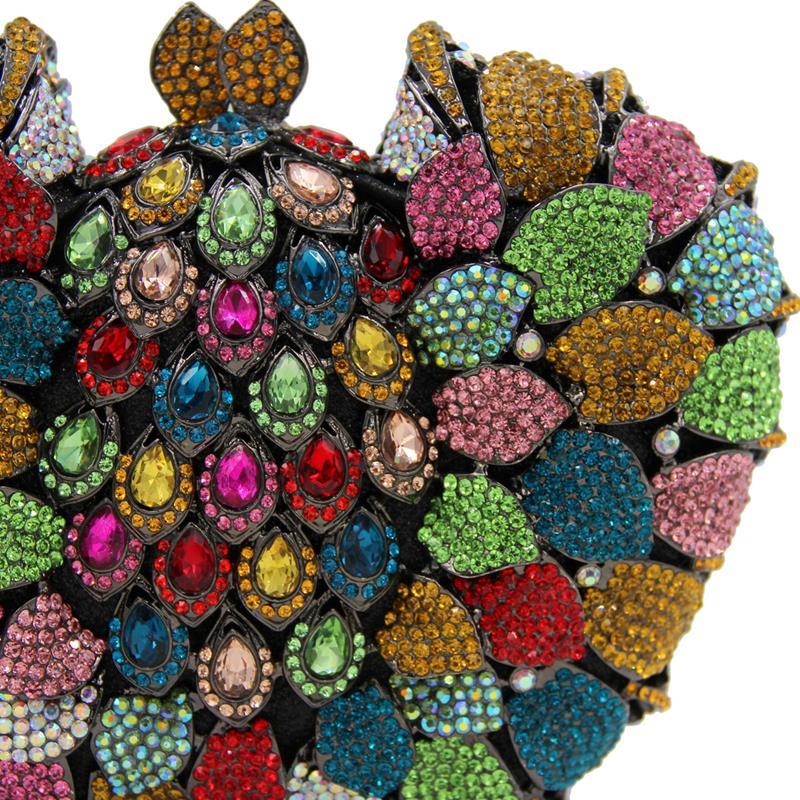 Bags Soirée Bourse bags Cristal Strass Femmes Sacoche À Sac Smyzh Sacs Octogone De e0037 Luxe Embrayage Pochette Du Coloré Parti Main qPSEpHSyR