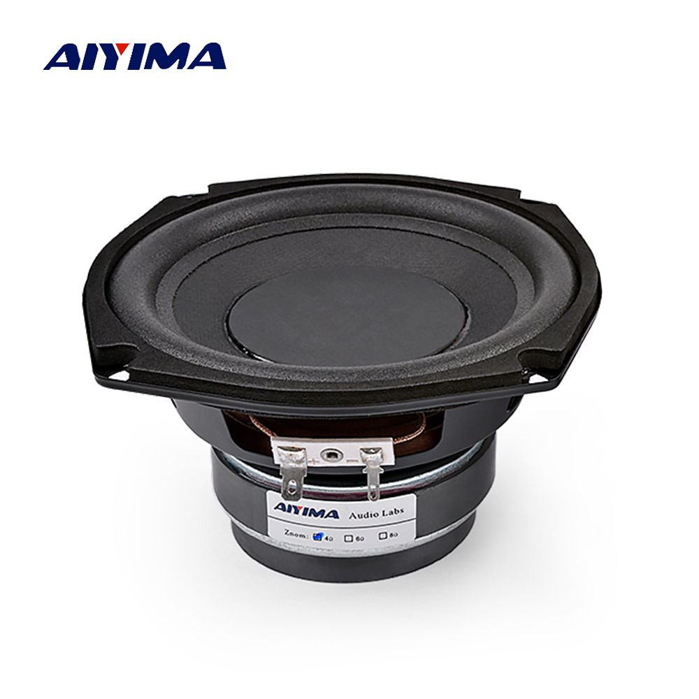 AIYIMA 5.25 Inch Audio Music Subwoofer Speakers Dual Magnetic High Power Fever 4 8 Ohm 100 W Woofer Loudspeaker DIY Sound SystemAIYIMA 5.25 Inch Audio Music Subwoofer Speakers Dual Magnetic High Power Fever 4 8 Ohm 100 W Woofer Loudspeaker DIY Sound System