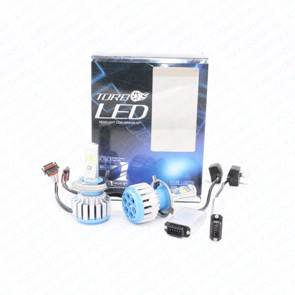 ФОТО XIANGSHANG H4 Car Led Headlight High Power Auto H4-3 Hi/lo HB2 9003 High Low 40W White 6000K Bulb Repalcement Bi Xenon Headlamp