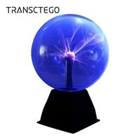 Plasma Ball 8 Inch Holiday Night Light Globe Static Lamp Touch Sound Sensitive Glass Sphere Toy For Kids Novelty Light Christmas