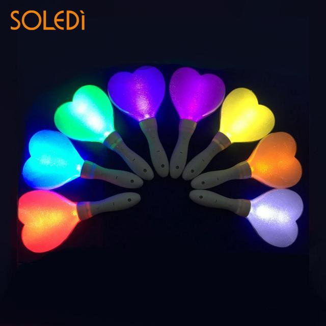 1pc heart shape colorfull light stick luminous glo sticks led glow stick celebrations event concerts