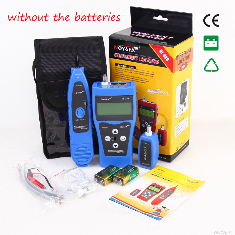 где купить  Network monitoring cable tester LCD NF-308 Wire Fault Locator LAN Network Coacial BNC USB RJ45 RJ11 blue color  дешево
