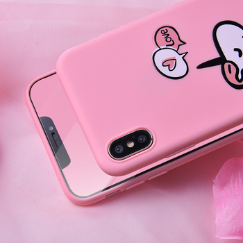 Fashion Unicorn Pink Soft Silicone Phone Case For iPhone
