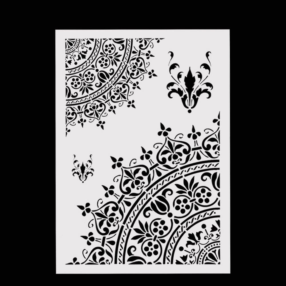 Layering Stencils Template For Walls Painting Scrapbooking Stamping Craft DIY Upper and Lower Crown Spray Pattern Mold Stencils
