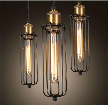 Горячая винтажная промышленная потолочная Подвесная лампа Эдисона, подвесное освещение, лофт, американский кантри, ресторан, спальня, ламп...