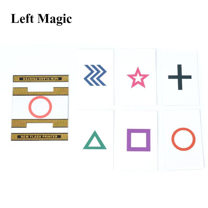 ESP New Flash Printer Magic Tricks Magician Predict The Select Card Magia Stage Close Up Gimmick Mentalism Flash ESP Card