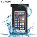 TURATA [водонепроницаемый] ПВХ Сумка Чехол Телефон Случаях для iphone 6/6 s Plus/5 5S 4S Samsung Galaxy S7/S6/S5/S4/Samsung Note 5/4/3/2