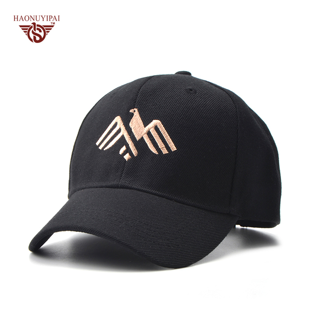 Newly Design Embroidery Eagle Spring Summer Hats Unisex Casual Snapback  Best Baseball Caps Wine Red Navy Blue 4 Color Hat BQ019 e8306cecb905