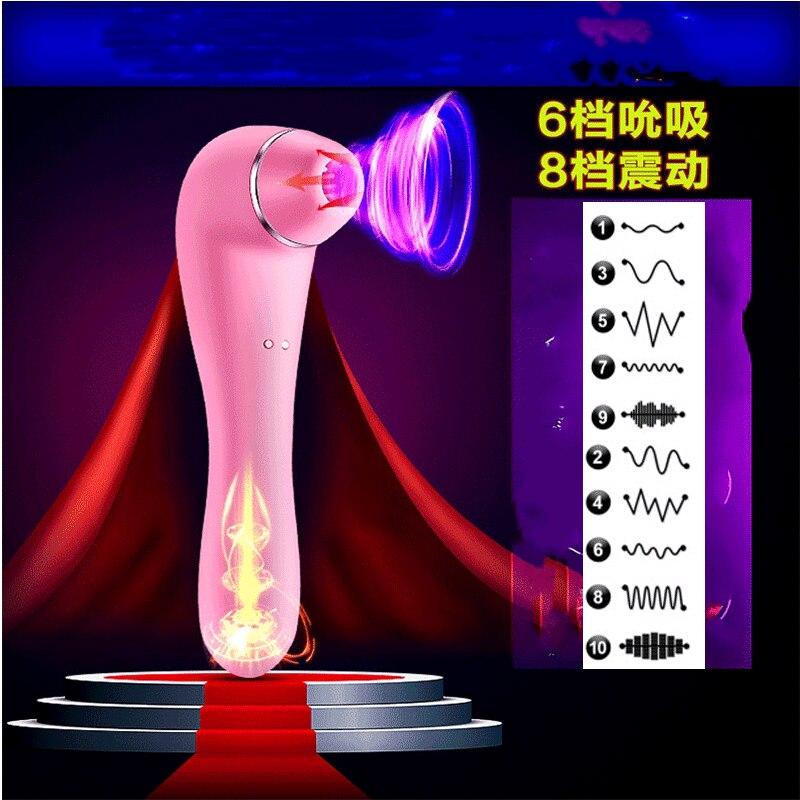 Oral Stimulation genital Vibrators for Women Pussy Pump Vagina Vibrator Clitoris Licking Sex Toys Massager Nipple Sucking Tongue in Vibrators from Beauty Health